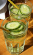 Cucumber drink on the table