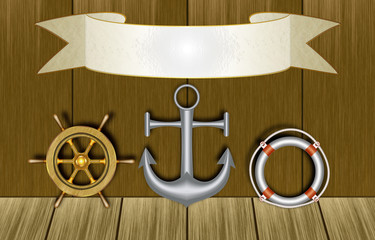 maritime Symbole, Schild
