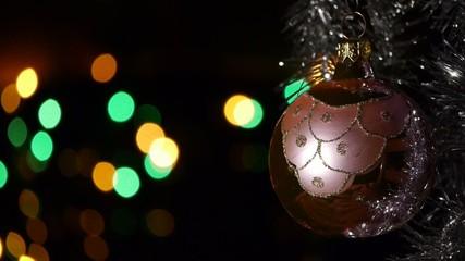 Christmas decorations - Defocused Christmas lights