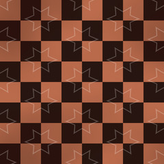 Starry chessboard generated texture