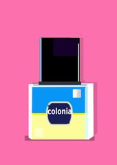 Frasco de colonia