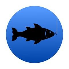 Black Isolated Fish - Illustration