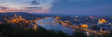 Budapest panorama with Danube at night