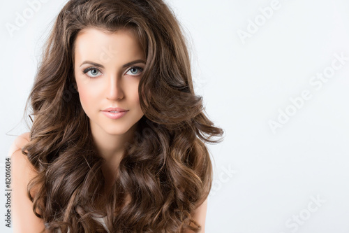 Beautiful Brunette Woman.