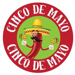 Cinco De Mayo icon chili pepper