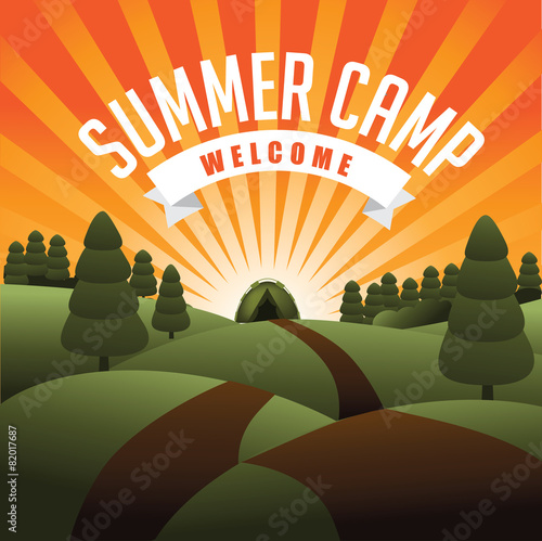 Summer camp burst - 82017687