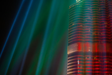 night view of Dubai Skyscraper