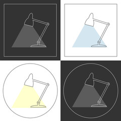 Table lamp  line icons.