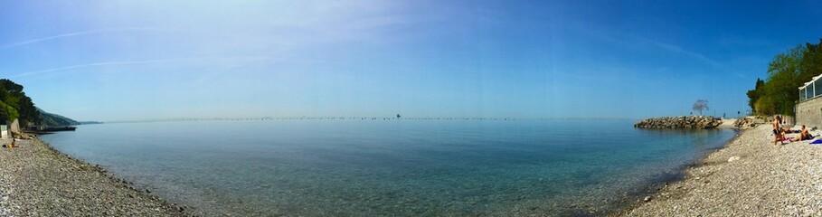 Stunning rock naturist beach in Trieste Italy