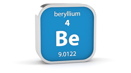 Beryllium material on the periodic table. Part of a series.