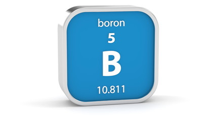 Boron material on the periodic table. Part of a series.