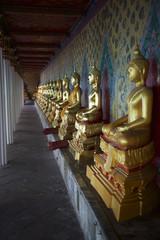 Buddhist Temple Golden Buddhas Bangkok Thailand