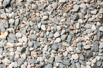 Macro texture of colorful stones and pebbles