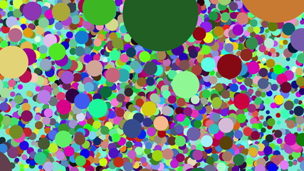 Abstract background with colorful circles and dots fly