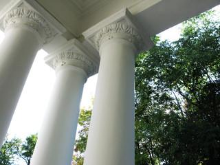 Columns of ancient buildings