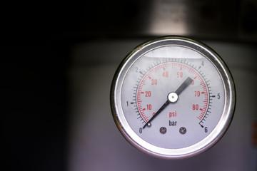 manometer turbo pressure meter gauge in pipes oil plant