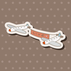 airplane theme elements vector,eps