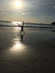 Cartwheel on the beach.