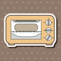 kitchenware oven theme elements vector,eps