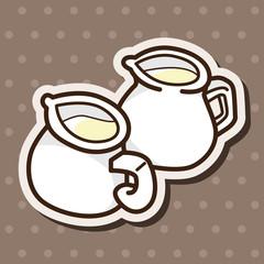milk theme elements vector,eps