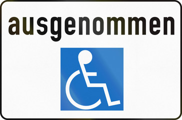 Except People Using Wheelchairs in Austria