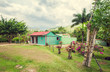 poor woden cabins at Dominican Republic, island Hispanola wich - 82023289