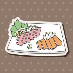 japanese food theme Sashimi elements vector,eps