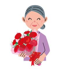 花束 お母さん