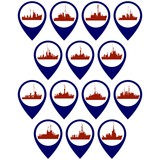 Badges with frigates and corvettes-1