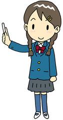 チョーク 女子高生