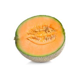Fresh  ripe melon on white background