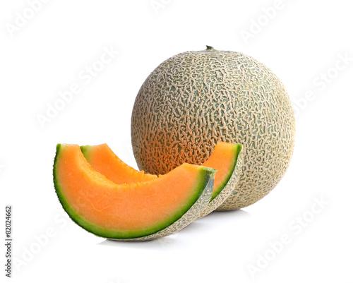 ripe melon on white background © dasuwan