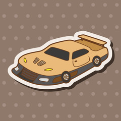racing car theme elements vector,eps