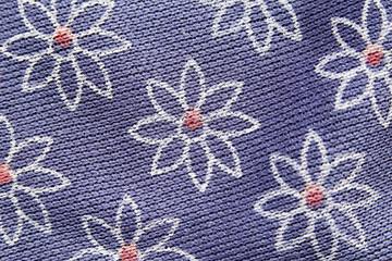 Pattern flowers of purple fabric.