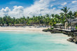 Leinwanddruck Bild - Relaxing on remote Tropical Paradise beach in Dominican Republic