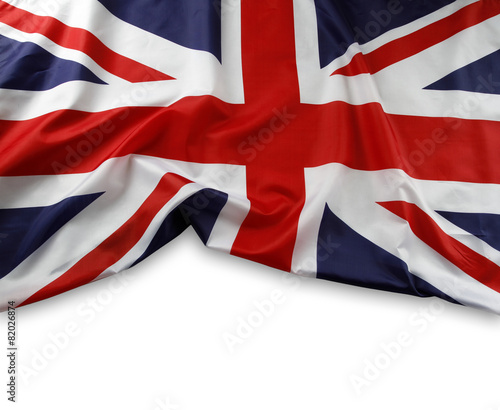 Union Jack flag on white - 82026874