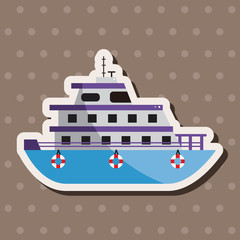 Transportation boat theme elements vector,eps