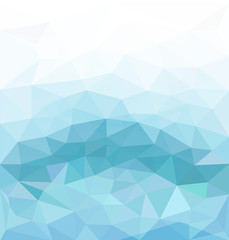 vector blue abstract background of triangles for business