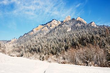Winter Landscape In Pieniny Mountains, Three Crowns, Poland