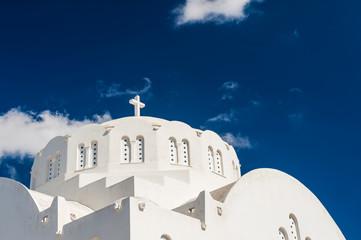 The Church against the dark blue sky.
