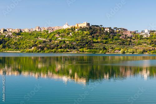 Leinwanddruck Bild Castel Gandolfo Lago Albano