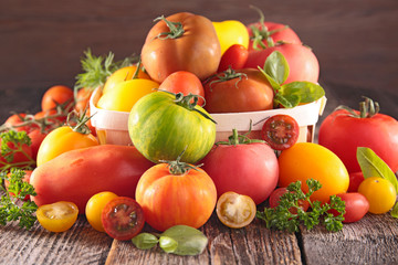 assortment of fresh tomato