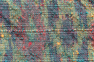 Pattern of woven fabric colorful.