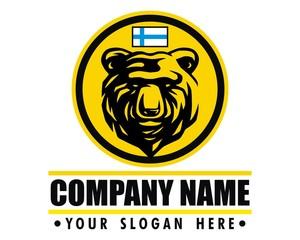 bear finland logo vector