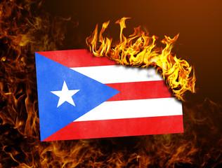 Flag burning - Puerto Rico