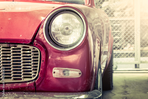 Retro headlight of vintage car © pingpao