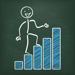 Blackboard Stickman Successful Chart