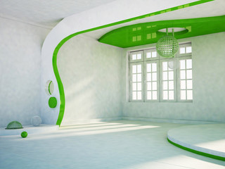 gypsum plasterboard construction in the  room