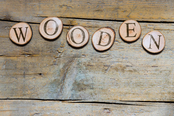 Holzscheiben, hölzern, wooden