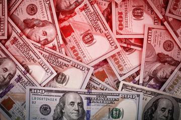 Dollars money pile background